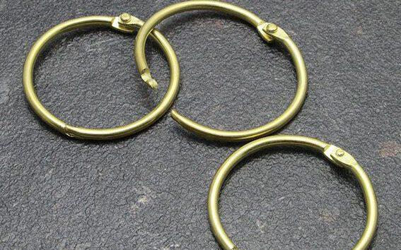 kółka zawieszkowe złote