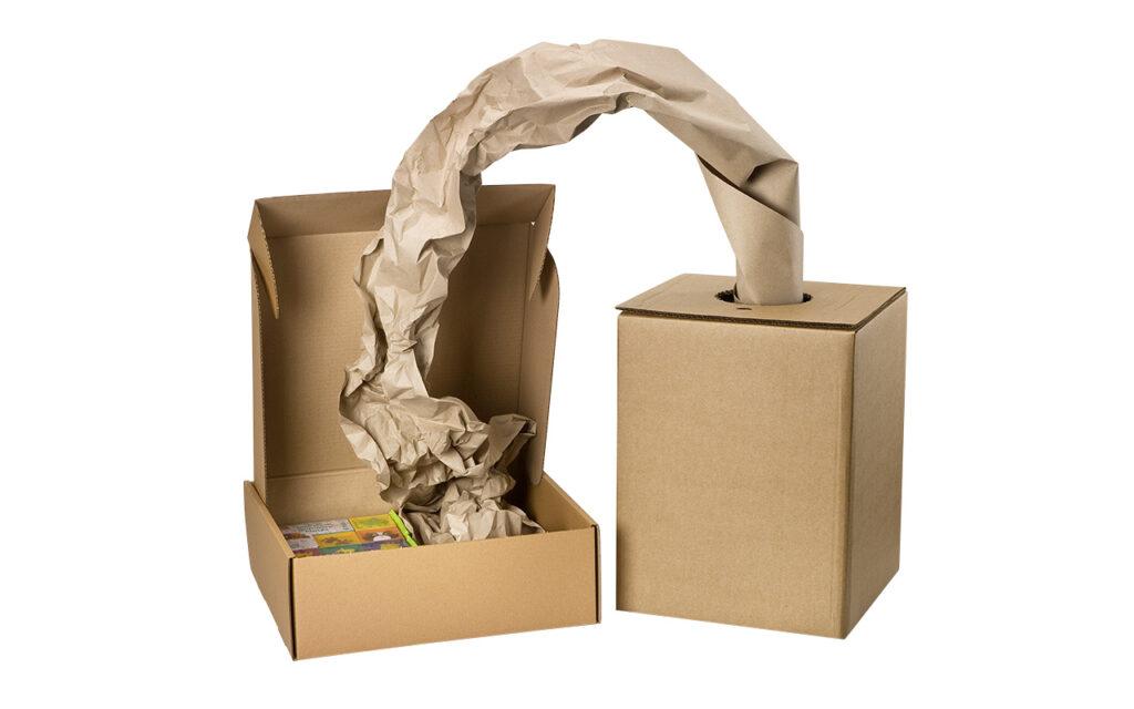 wypełniacz paczek w kartonie